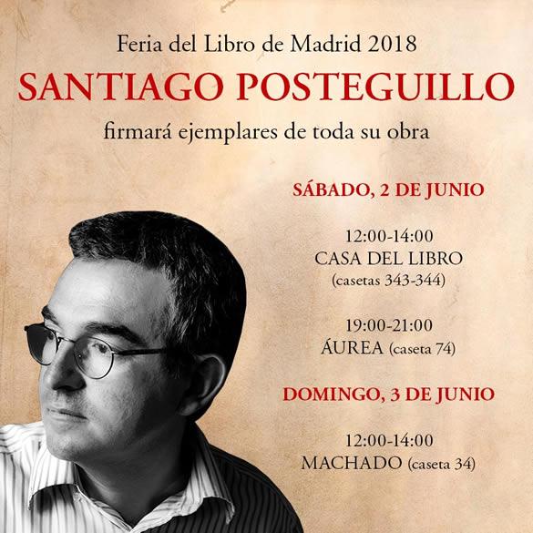 Firma de ejemplares en la Feria del Libro de Madrid 2018