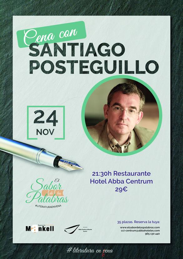 Cena Literaria con Santiago Posteguillo en Abba Centrum Alicante