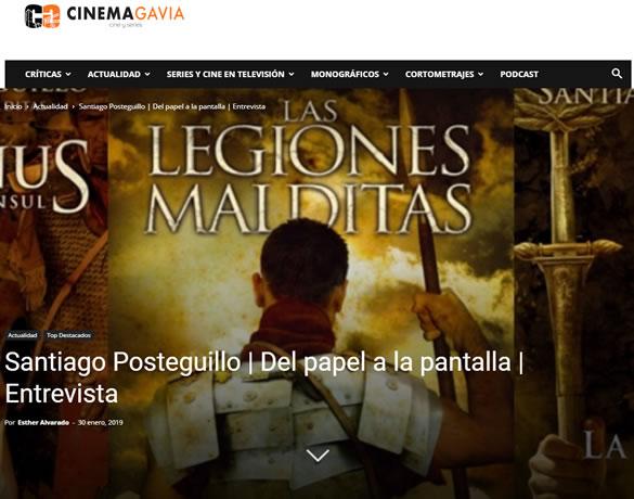 Cinemagavia - Serie Africanus - Del papel a la pantalla - entrevista a Santiago Posteguillo