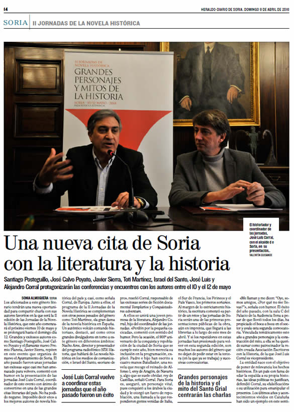 II Jornadas de la Novela Historica en Soria