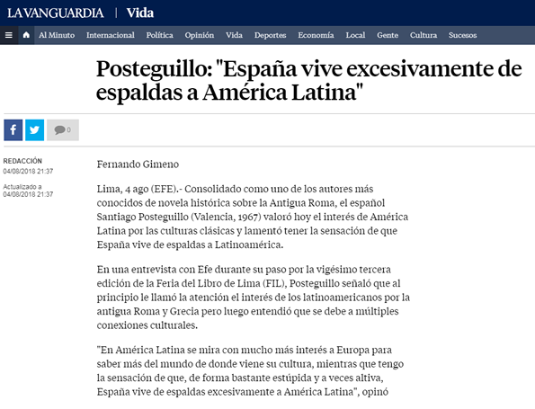Santiago Posteguillo - La Vanguardia