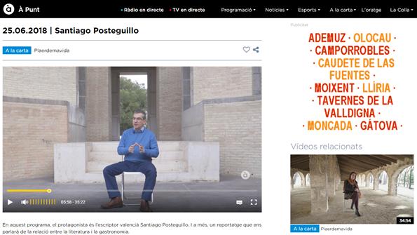 Santiago Posteguillo en A Punt
