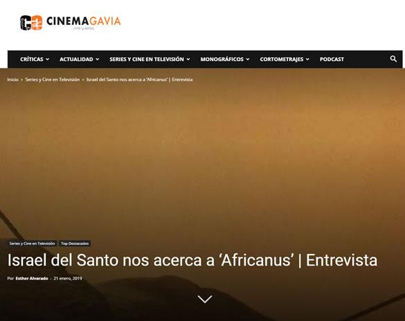 entrevista a Israel del Santo sobre la serie Africanus