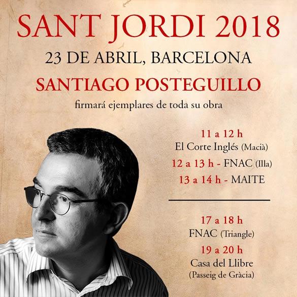 firma de ejemplares Sant Jordi 2018 - Barcelona
