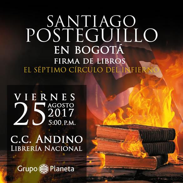Santiago Posteguillo firma de ejemplares en Bogotá