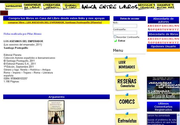 Santiago Posteguillo en Anika entre libros