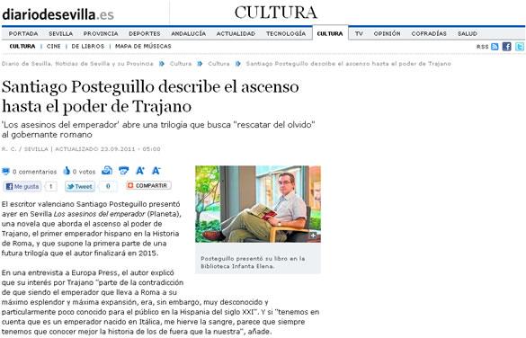 Santiago Posteguillo en el Diario de Sevilla