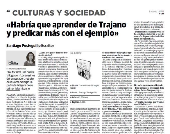 santiago_posteguillo_entrevista_diariosur_malaga