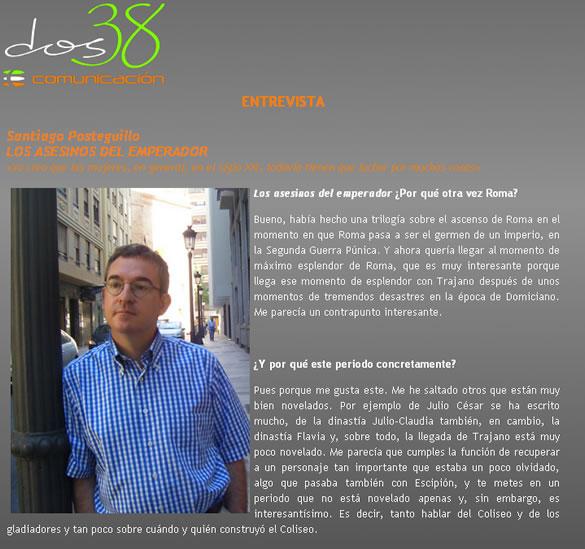 Santiago Posteguilo entrevistado por Dos38 Comunicación