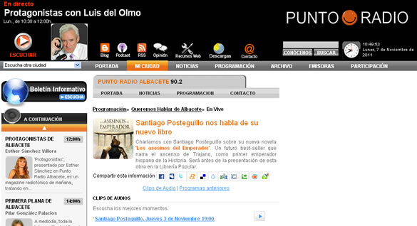 santiago_posteguillo_entrevista_punto_radio_albacete