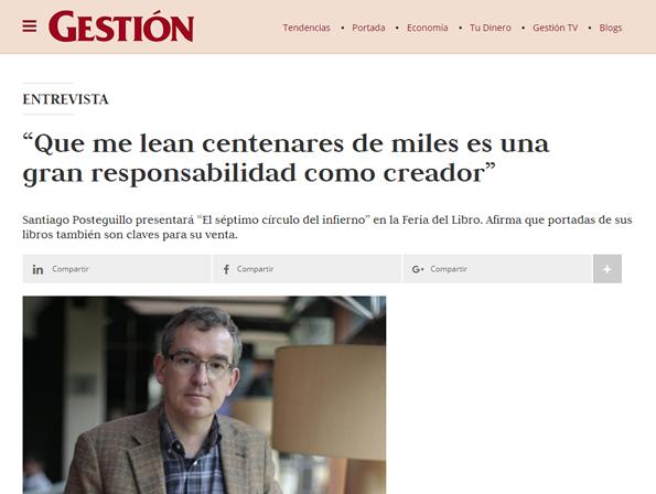 santiago posteguillo en Gestion